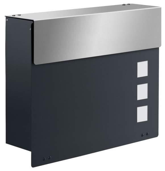 Design Briefkasten ARLON EXKLUSIV Anthrazitgrau / Edelstahl %