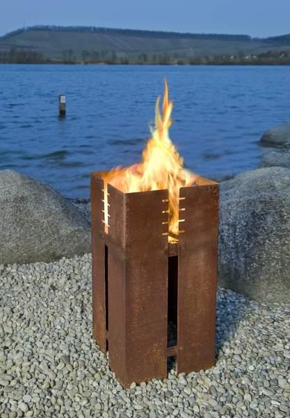 Keilbach Feuerstelle FERRUM - optional mit Grillrost!