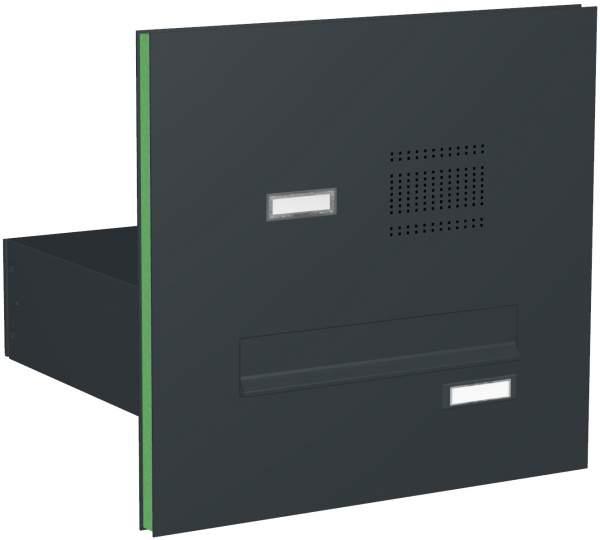 Briefkastenanlage Türseitenteil gerade Kästen mit Klingeln Modell T2