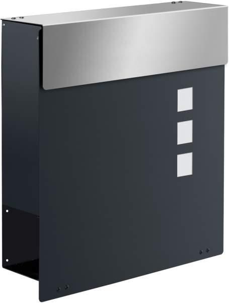 Design Briefkasten NAMUR EXKLUSIV Anthrazitgrau / Edelstahl