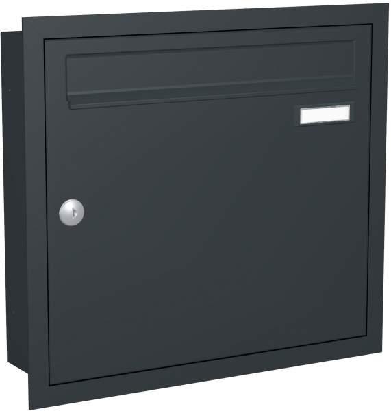 Briefkastenanlage Unterputz mit eckiger Verkleidung Modell U1