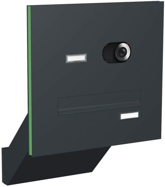 Briefkastenanlage Türseitenteil schräge Kästen Modell T4V mit Video