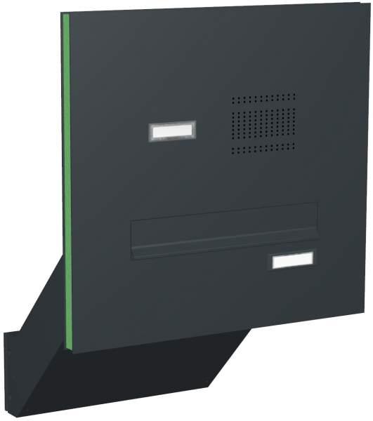 Briefkastenanlage Türseitenteil schräge Kästen mit Klingeln Modell T4