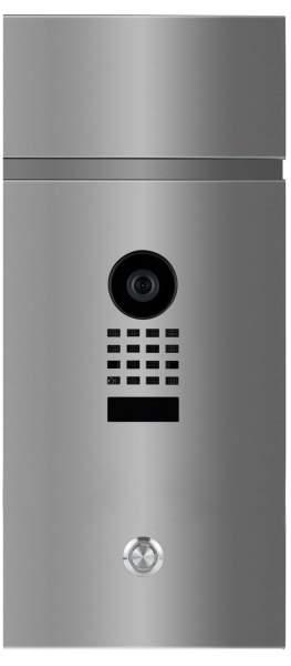 Frabox Videomodul LEVARA in Edelstahl mit Doorbird Videotechnik und LED-Taster