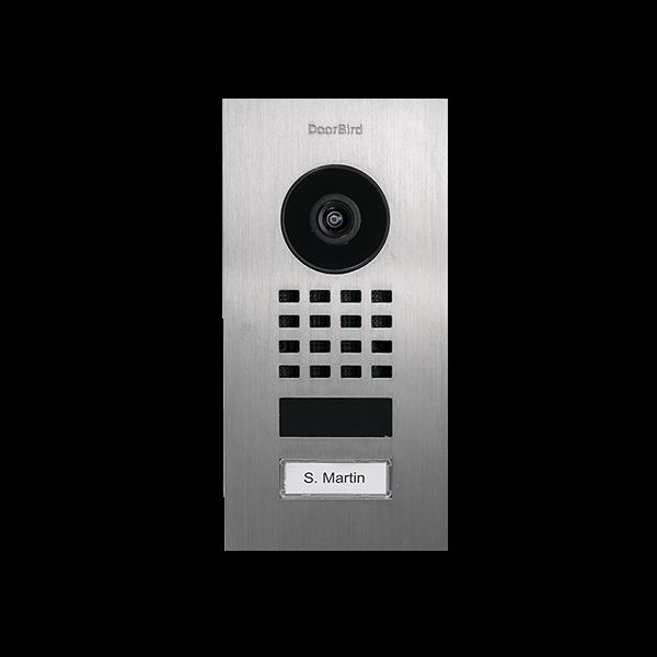 DoorBird IP Video Türstation D1101V, Edelstahl V2A, gebürstet, Unterputzmontage