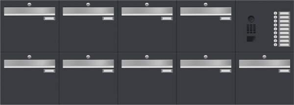 Briefkastenanlage LUIS von Frabox inklusive DoorBird-Videomodul