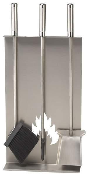 Schössmetall Wandgarnitur mit Kaminbesteck Lendon I