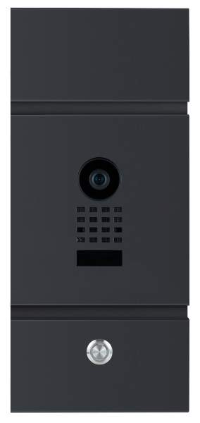 Frabox Videomodul LENS mit Doorbird Videotechnik und LED-Taster