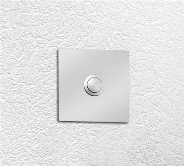 CMD Edelstahl Klingelplatte Quadrat
