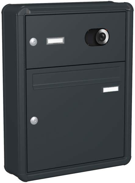 Briefkastenanlage Aufputz, Rundkante, Modell A4V mit Video