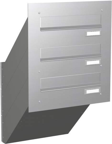Briefkastenanlage Mauerdurchwurf in Edelstahl Modell EM1