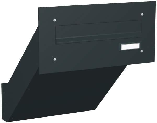 Briefkastenanlage Mauerdurchwurf mit gerader Frontplatte M1