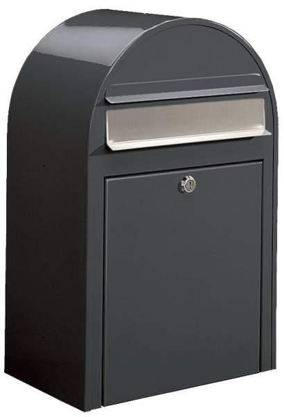 BOBI Classic Briefkasten anthrazitgrau mit Edelstahleinwurf