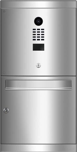 Frabox Edelstahl Aufputz-Briefkasten AREVO mit DoorBird-Videotechnik