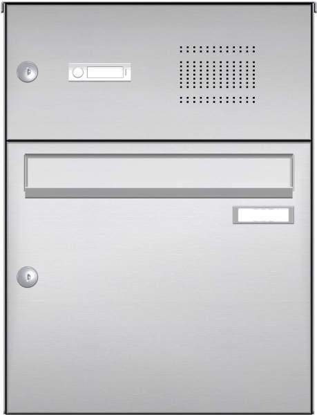 Briefkastenanlage Aufputz in Edelstahl Modell EA2 mit 1 Briefkasten %