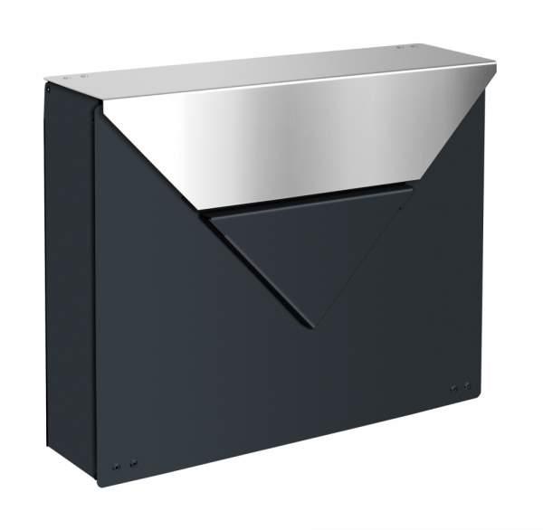 Frabox Design Briefkasten EVERE Anthrazitgrau / Edelstahl
