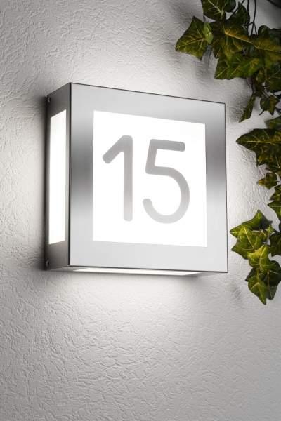 CMD Edelstahl Haus-Nr. Leuchte Aqua Legendo 42 HN