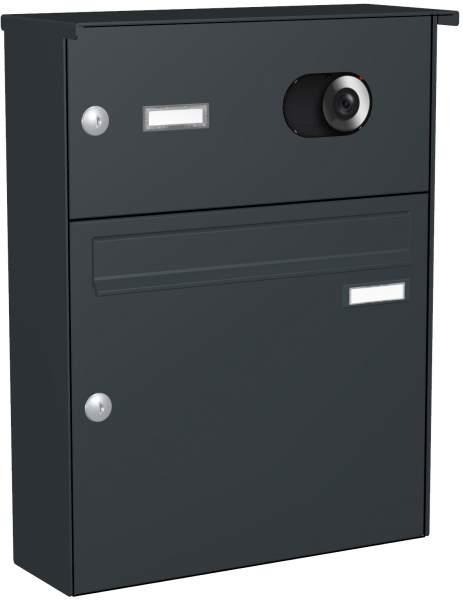 Briefkastenanlage Aufputz, eckiger Verkleidung Modell A3V mit Video