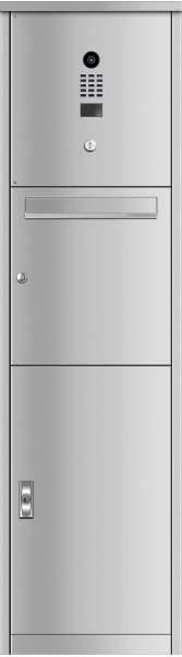 Frabox Edelstahl Post- und Paketkasten VORLEY mit DoorBird-Videotechnik