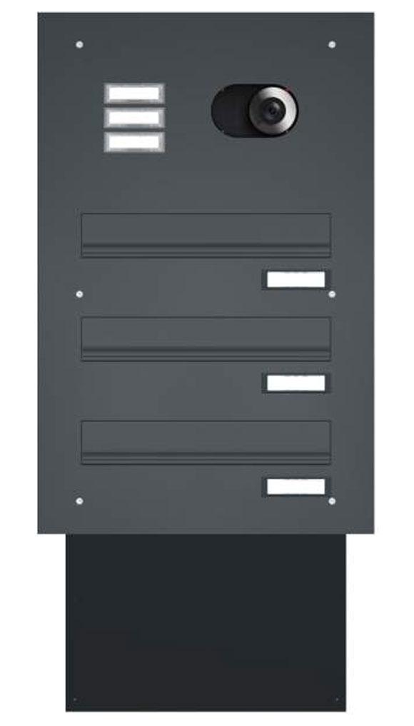 Mauerdurchwurfbriefkästen mit Sprechsieb oder integrierter Video-Türsprechanlage