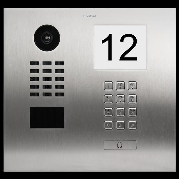 DoorBird IP Video Türstation D2101IKH, Edelstahl V2A, gebürstet, inkl. beleuchtetem Info Modul