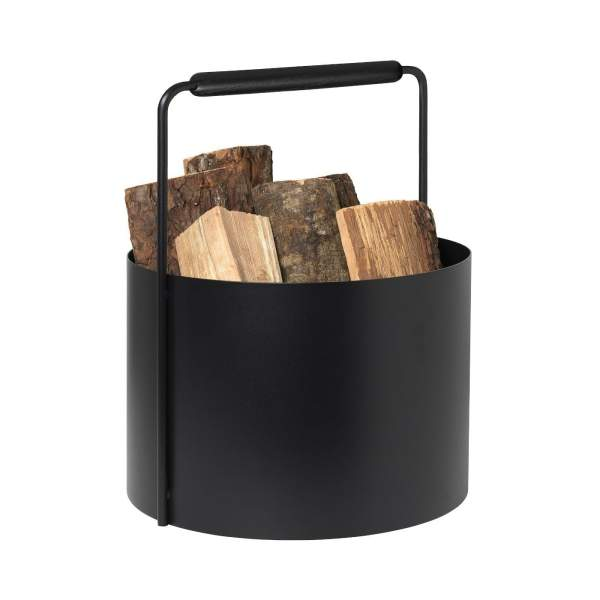 Blomus ASHI - Feuerholz Korb schwarz