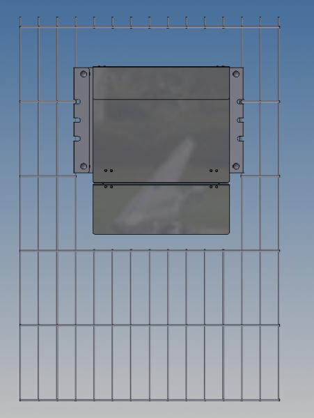 Befestigungsset für Stabmattenzäune passend zu Frabox Zaunbriefkasten Namur / Arlon