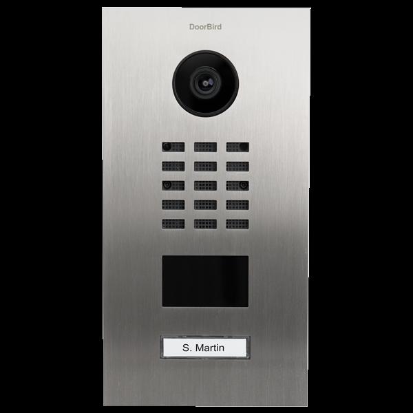 DoorBird IP Video Türstation D210xV, Edelstahl V2A, gebürstet, inkl. Unterputzgehäuse