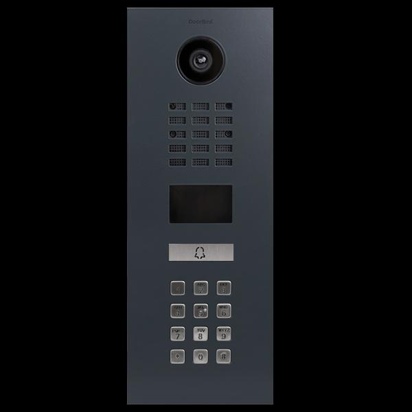DoorBird IP Video Türstation D2101KV, RAL 7016 anthrazitgrau für Einfamilienhäuser, mit Keypad Modul