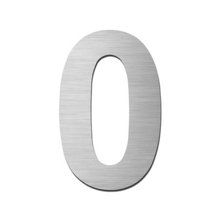Serafini Edelstahl Hausnummer selbstklebend 150 mm Höhe