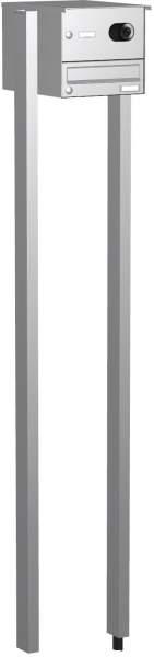Edelstahl Briefkastenanlage, eckige Verkleidung Modell EF2 mit Video
