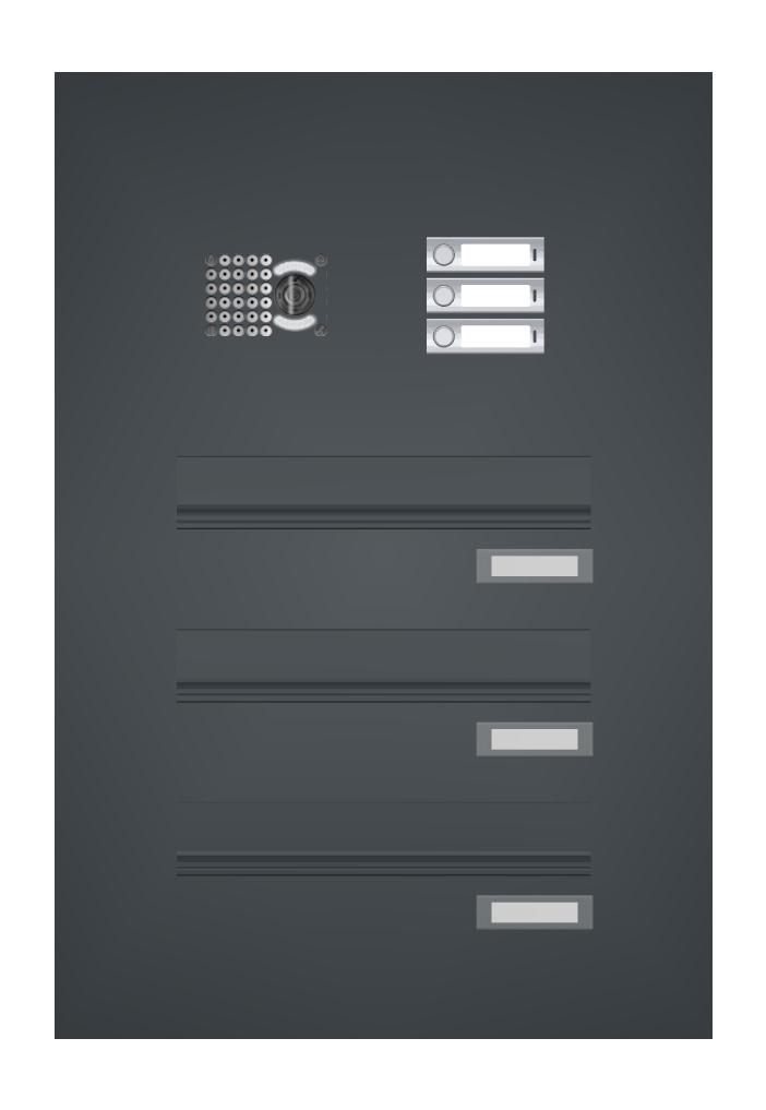 Türseitenteilbriefkästen mit Sprechsieb oder integrierter Video-Türsprechanlage