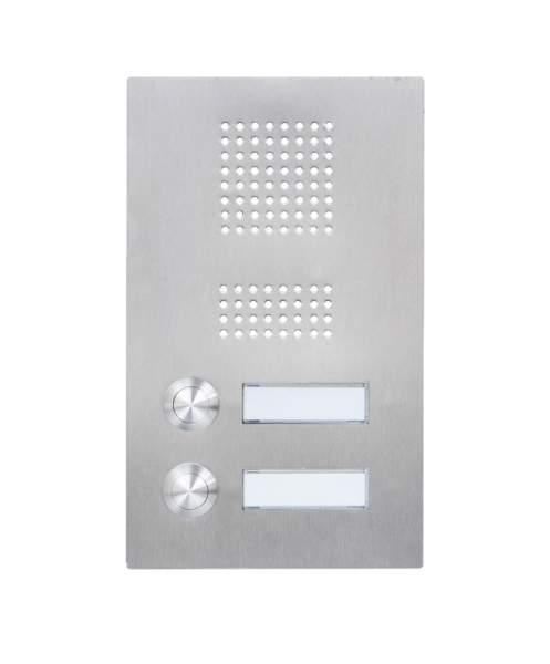 Frabox Edelstahl Klingelplatte STAY II mit Sprechsieb und LED-Beleuchtung