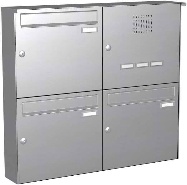 Briefkastenanlage Aufputz in Edelstahl Modell EA2