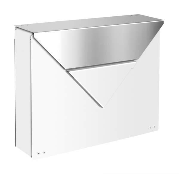 Frabox Design Briefkasten EVERE Weiss / Edelstahl %