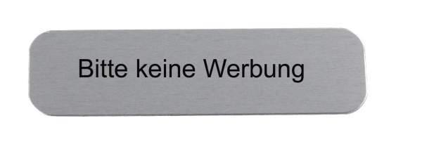 Edelstahl-Namensschild Bitte keine Werbung