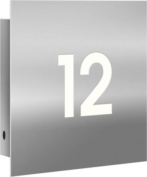 Frabox LED-Edelstahl Design Hausnummernleuchte NAMUR