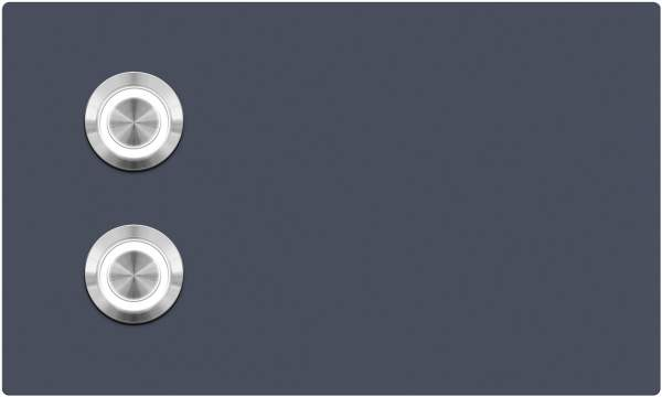Frabox Klingelplatte LUTON mit 2 LED Tastern für Unterputzmontage