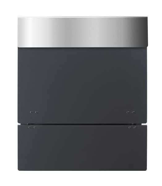 Frabox Design Zaunbriefkasten NAMUR Anthrazitgrau / Edelstahl