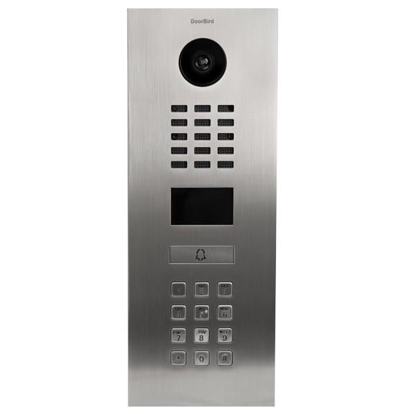DoorBird IP Video Türstation D2101KV, Edelstahl V2A für Einfamilienhäuser, mit Keypad Modul