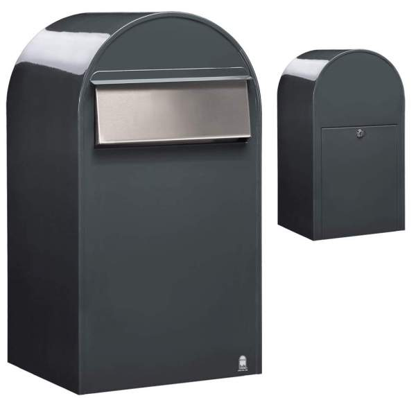 Briefkasten Bobi Grande Postentnahme hinten RAL 7016 anthrazitgrau %