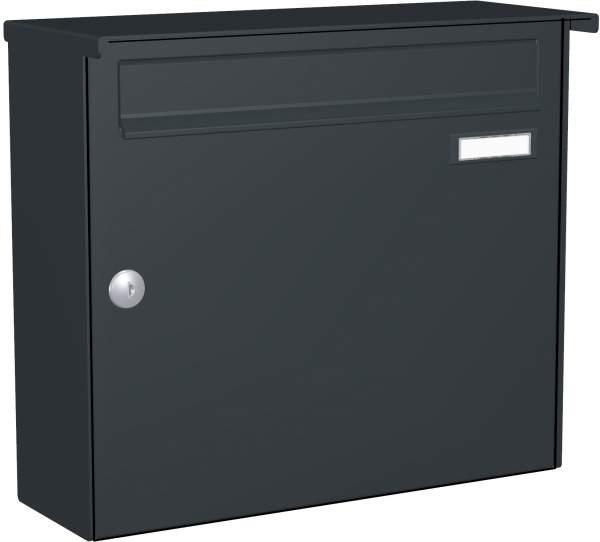 Briefkastenanlage Aufputz mit eckiger Verkleidung Modell A1