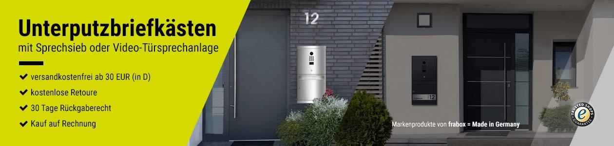 Unterputzbriefkästen mit Sprechsieb oder integrierter Video-Türsprechanlage