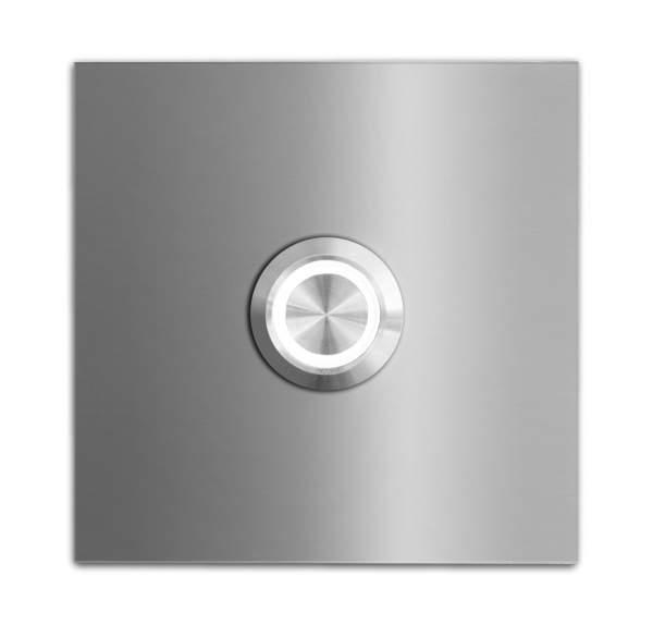 Frabox Quadratische LED Edelstahl Klingelplatte STOKE