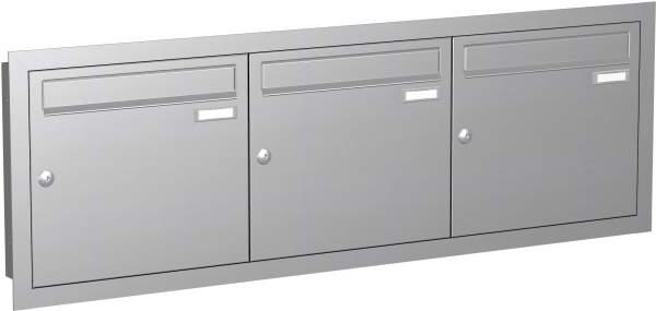 Briefkastenanlage Unterputz in Edelstahl Modell EU1