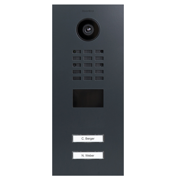 DoorBird IP Video Türstation D210xV RAL 7016 anthrazitgrau inklusive Unterputzgehäuse %