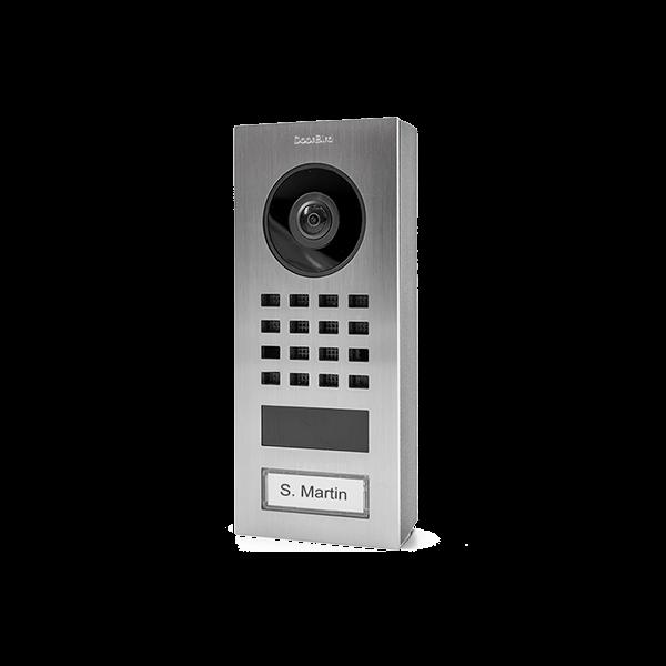 DoorBird IP Video Türstation D1101V Aufputz, Edelstahl V2A, gebürstet, Aufputzmontage