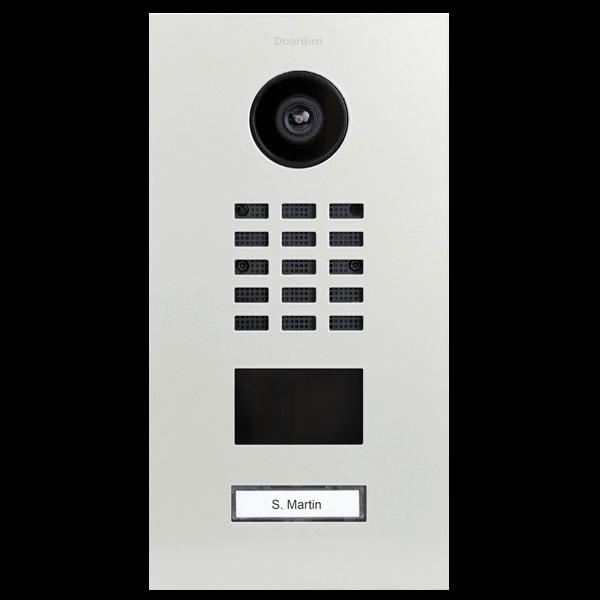 DoorBird IP Video Türstation D210xV inklusive Unterputzgehäuse