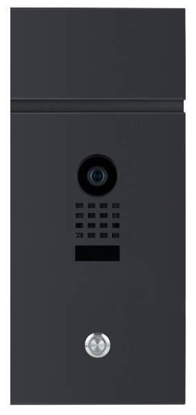 Frabox Videomodul LEVARA mit Doorbird Videotechnik und LED-Taster