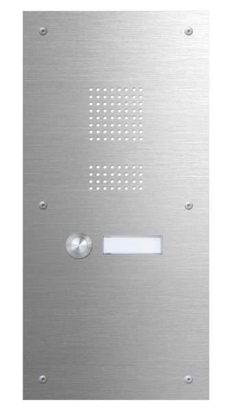 Frabox Edelstahl-Klingelplatte K1 mit Sprechsieb